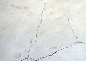 cracks in a slab floor consistent with slab heave in Hammond.
