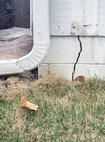 foundation wall cracks due to street creep in Schererville